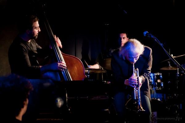"Enrico Rava & Urban Fabula Enrico Rava - trumpet, Seby Burgio - piano, Alberto Fidone - bass, Peppe Tringali - drums Brass Jazz Club ""La Cartiera"", Catania Photo by Simona Platania"